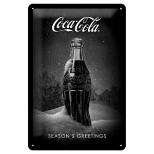 Nostalgic Art Fémtáblák: Coca-Cola Black Special Edition (Season's Greetings) - 30x20 cm