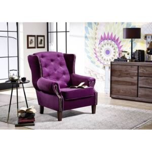 Massziv24 - CAMBRIDGE Fotel Chesterfield, lila