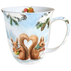 AMB.38411910 Squirrel Love porcelán bögre 0,4l