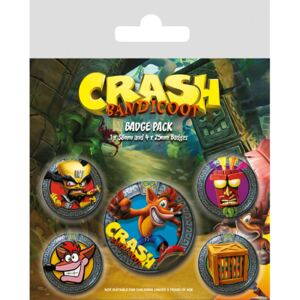 Crash Bandicoot - Pop Out kitűző