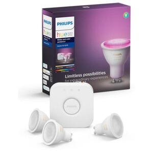Philips Hue White and Color Ambiance 3db 5,7W GU10 RGB + bridge készlet