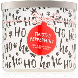 Bath & Body Works Twisted Peppermint illatos gyertya II. 411 g