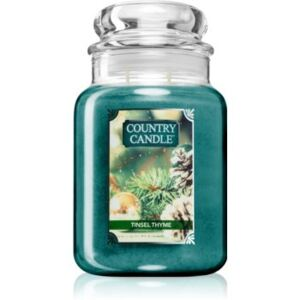 Country Candle Tinsel Thyme illatos gyertya 680 g