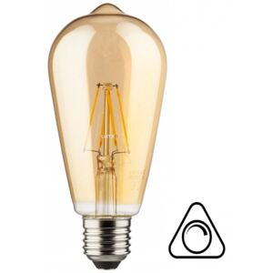 Müller Licht 400208 Retro-LED Edison Gold E27 6,5W 2000K DIM filament LED