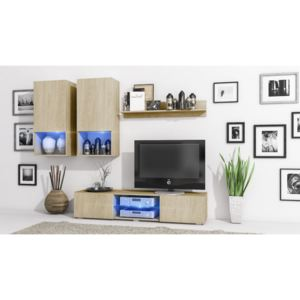 MEBLINE Living Room Set DECO Sonoma / Sonoma