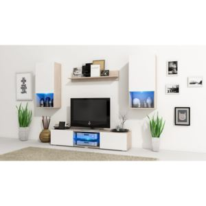 MEBLINE Wall Unit VERO Sonoma / White Matt