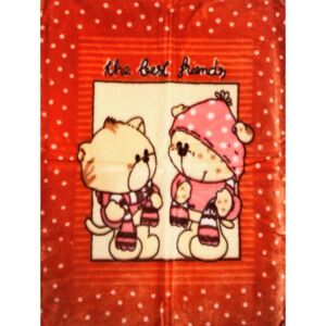 Baba pléd 80*110 cm - narancs the best friends