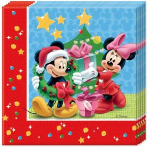 Disney Mickey Christmas Time szalvéta 20 db-os