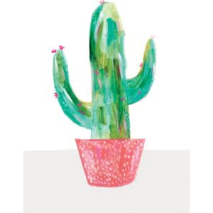 Ábra Painted cactus in coral plant pot, Laura Irwin