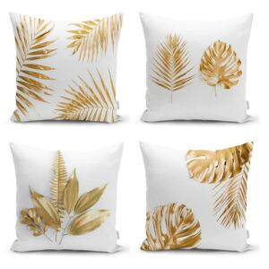 Gold Leaves Modern 4 db párnahuzat, 45 x 45 cm - Minimalist Cushion Covers