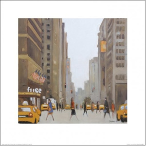 New York - 7th Avenue Festmény reprodukció, (40 x 40 cm)