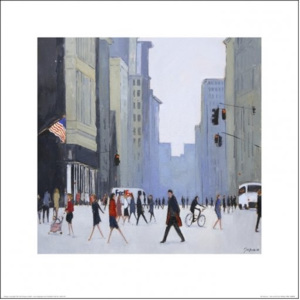 New York - 5th Avenue Festmény reprodukció, (40 x 40 cm)
